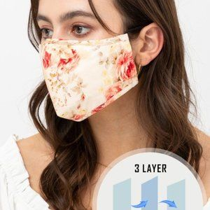 Floral Printed Reusable Washable Face Mask